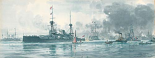 HMS NEPTUNE SAILS FROM PORTSMOUTH, 1911