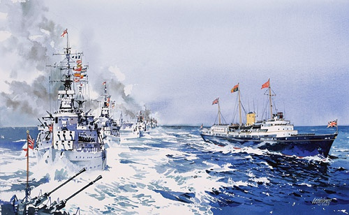 HMY BRITANNIA WITH THE MEDITERRANEAN FLEET, 2nd  M