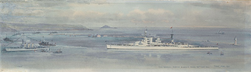 HMS RENOWN, WEARING THE STANDARD OF HRH THE PRINCE