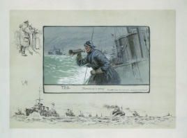 SNAFFLES TBDS - SHEPHERDING A CONVOY - A SKETCH FROM THE MONKEYS ISLAND OF A DESTROYER