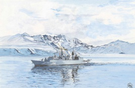 TYPE 22 BATCH 3 FRIGATE OFF SOUTH GEORGIA