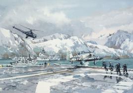 KOREA: HMS OCEAN, HMS UNICORN, HMS COSSACK  &  A S