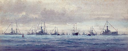 FLEET REVIEW 1909 THE COMBINED BRITISH FLEETS ARE REVIEWED