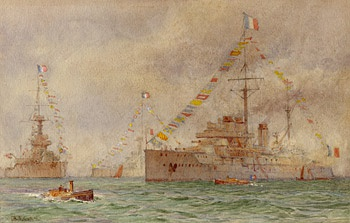 FRENCH AND BRITISH DREADNOUGHTS, 1912