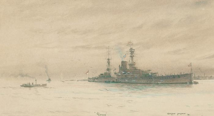 HMS GLORIOUS, 1922