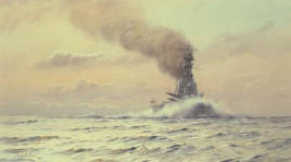 HMS HOOD WORKING UP TO FULL POWER- JULY 1923