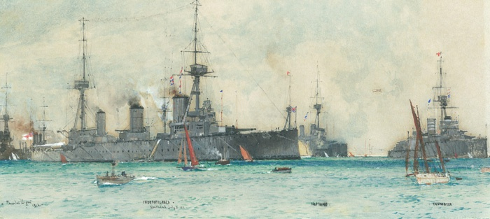 HMS INDEFATIGABLE, HMS NEPTUNE AND HMS THUNDERER A