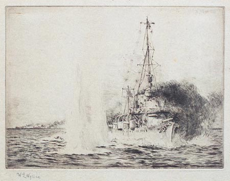 HMS CHESTER IN ACTION WITH THREE GERMAN LIGHT CRUI