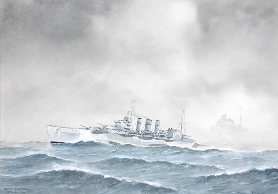 HMS SUFFOLK FINDS SMS BISMARCK - DENMARK STRAIT 23