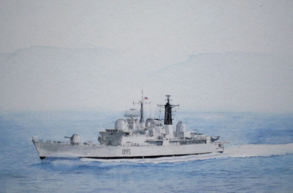 HMS MANCHESTER - TYPE 42 DESTROYER