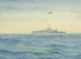 HMS COURAGEOUS OFF PORTLAND, 1932