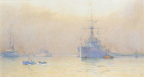 HMS DREADNOUGHT, PORTSMOUTH, 1908