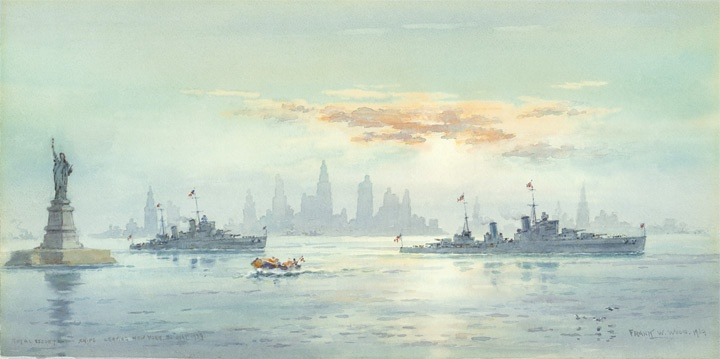 ROYAL ESCORTS IN NEW YORK HARBOUR  MAY 1939