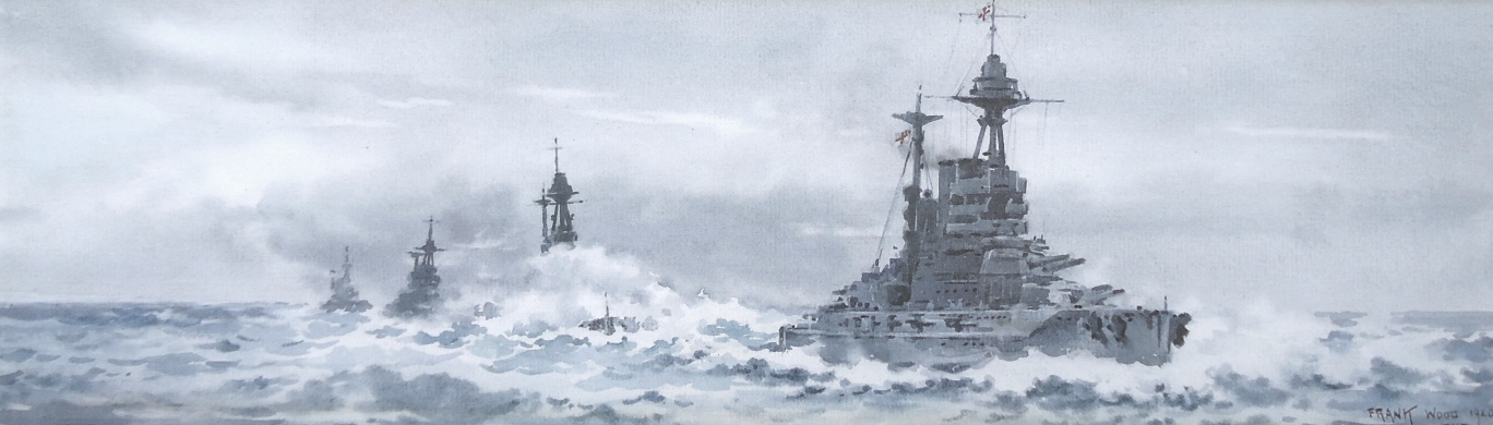 Battle of Jutland:  HMS BARHAM, MALAYA, WARSPITE AND VALIANT of the 5th Battle Squadron