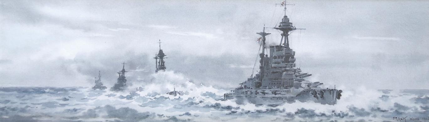 Battle of Jutland:  HMS BARHAM, MALAYA, WARSPITE AND VALIANT of the 5th Battle Squadron