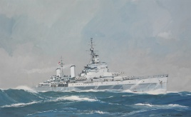 HMS BELFAST AT SEA, LATE 1942-1943