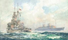 RMS QUEEN ELIZABETH MEETS HMS QUEEN ELIZABETH, WW2