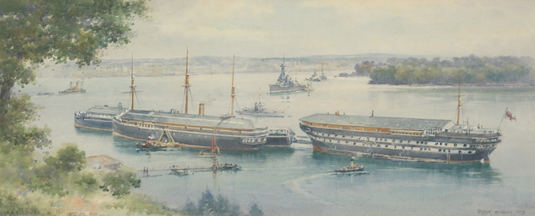 DEVONPORT, THE HAMOAZE AND HMS DEFIANCE OFF WEARDE