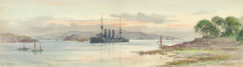 PLYMOUTH AND DRAKES ISLAND 1913  HMS CUMBERLAND
