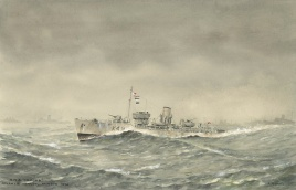 Flower class corvette hms crocus in the north atla