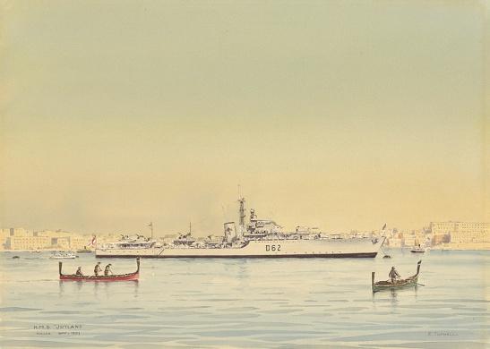 HMS JUTLAND AT MALTA, NOVEMBER 1951