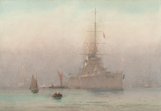 HMS QUEEN MARY AT PORTSMOUTH