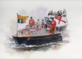 BRITANNIAS BARGE RULES THE WAVES, RIVER PAGEANT JUNE 2012