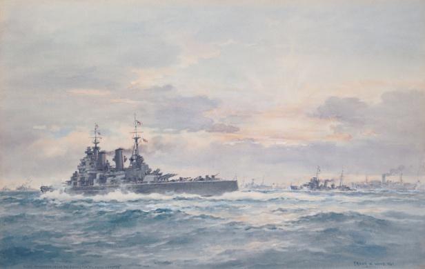 Winston Churchill aboard HMS Prince of Wales retur