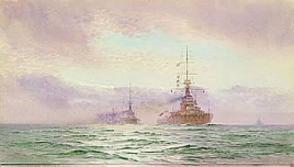 HMS THUNDERER AND THE 2ND BATTLE SQUADRON, 1914