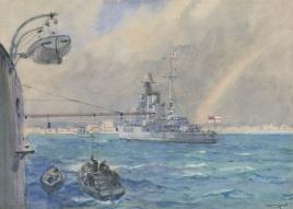 HMS BARHAM FROM HMS WARSPITE  PALMA, MALLORCA 1921