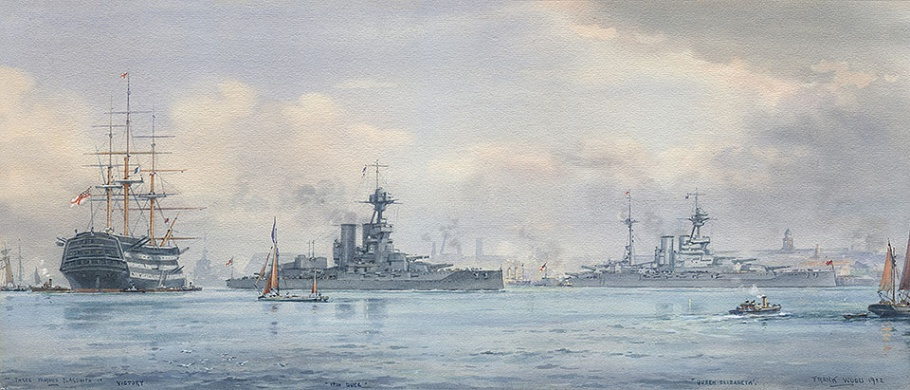THREE FAMOUS FLAGSHIPS: HM SHIPS  VICTORY, IRON DU