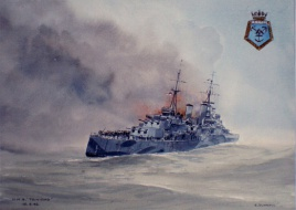 H.M.S. Trinidad Capsizing Whilst On Arctic Convoy