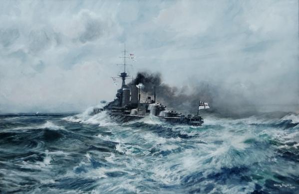HMS CENTURION running trials