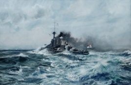 HMS CENTURION running trials