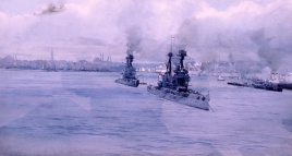 HM Battleships SUPERB & TEMERAIRE in Constantinople for Surrender Talks, November 1918