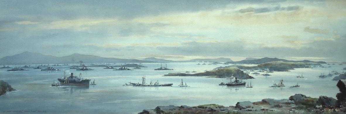 German High Seas Fleet lying at Scapa Flow, December 1918