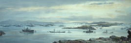 German High Seas Fleet lying at Scapa Flow, December 1918