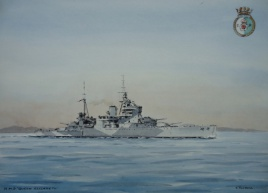 HMS QUEEN ELIZABETH, Indian Ocean, WW2