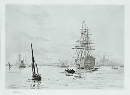 HMS VICTORY AFLOAT IN PORTSMOUTH WITH HM YACHT ALB