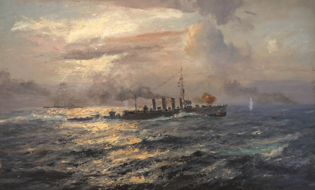 HMS CHESTER's Boy Seaman Jack Cornwell earning his VC