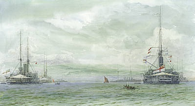 KING EDWARD VII Class Battleships at Sheerness c.1