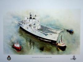 HMS ARK ROYAL Reurns to Sea - September 2006