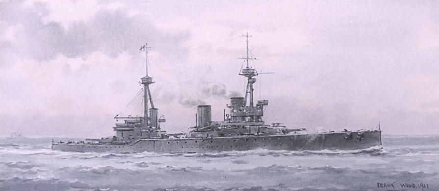 HMS INFLEXIBLE AT THE TIME OF JUTLAND - SUMMER 1916