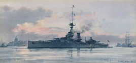HMS THUNDERER entering Portsmouth 1921; HMS VICTOR