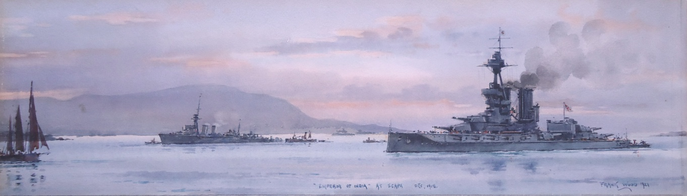 HMS EMPEROR OF INDIA at Scapa Flow, December 1918