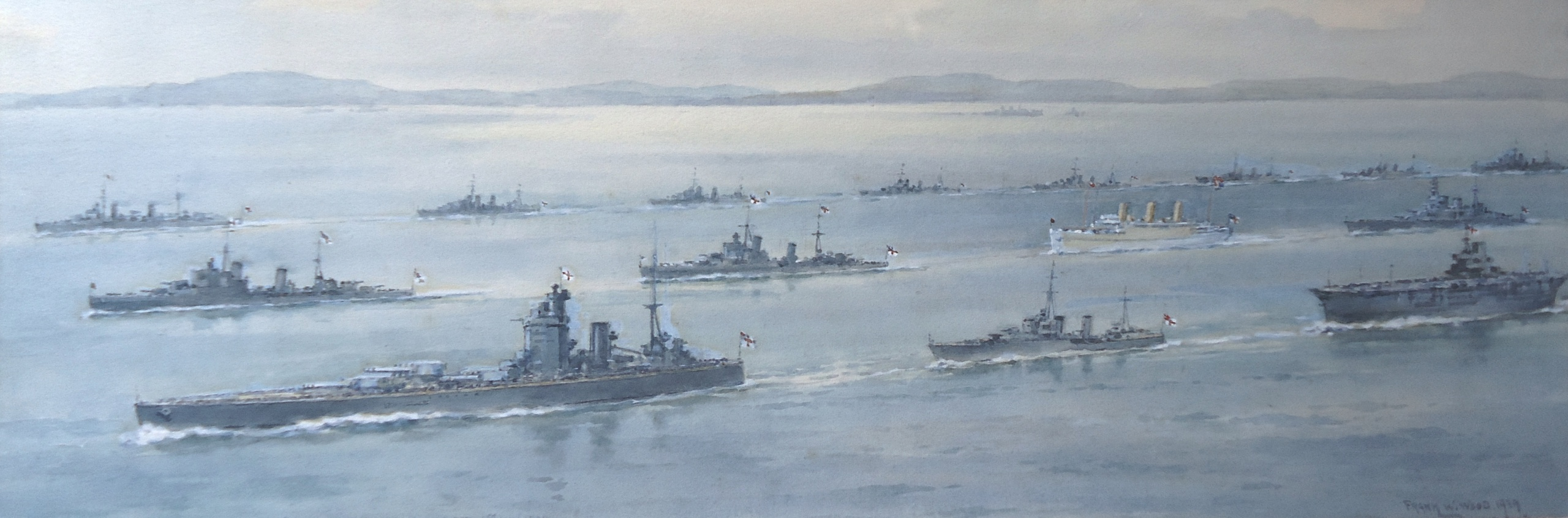 The Home Fleet escorts the Royal Squadron. May 1939