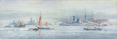 HMS QUEEN ELIZABETH in Portsmouth following the 19