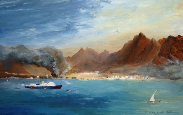 HM Yacht BRITANNIA evacuating off Aden 1986