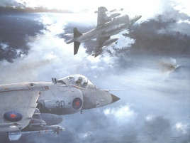 Harriers over the Falklands, May 1982