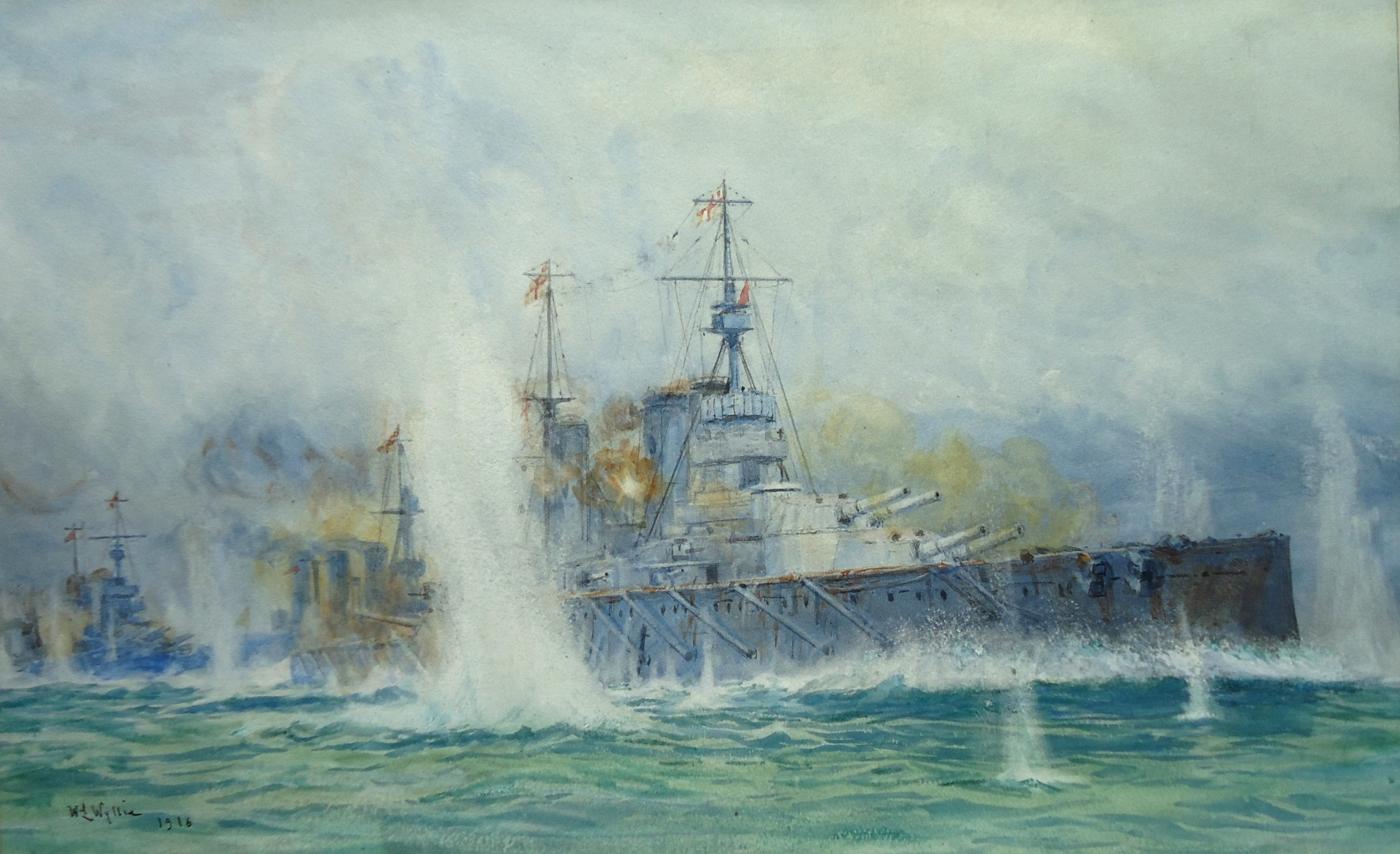 HMS LION and the Cat Squadron at Dogger Bank, 24 January 1915